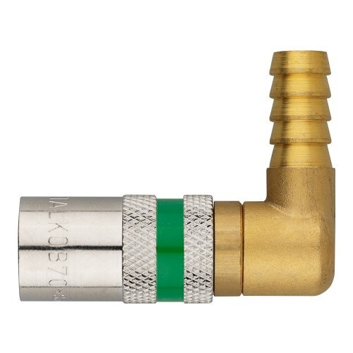 Temperierkupplung mit Tülle und automatischen Verschluß - gewinkelt 90° - Safe Lock TV9513/90 OV-SL