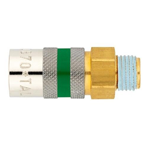Temperierkupplung mit Außengewinde und automatischem Verschluß - Safe Lock TU703/8 SL